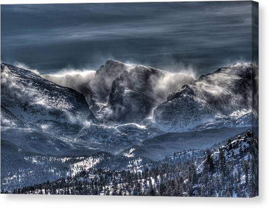 Storm On The Divide Canvas Print by G Wigler