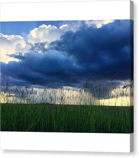 Swamps Canvas Print - Storm On The Everglades At Sunset by Juan Silva