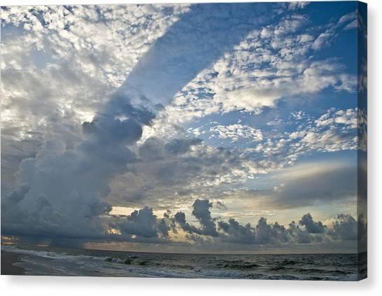 Storm On The Gulf Canvas Print by Jennifer Kelly