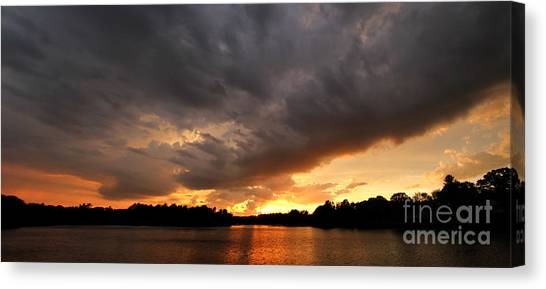 Jft Canvas Print - Storm On The Horizon by James F Towne