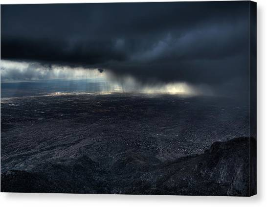 Thunderstorms Canvas Print - Storm Over Alburquerque by Max Witjes