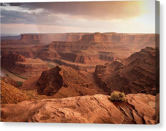 Storm Over Canyonlands Canvas Print