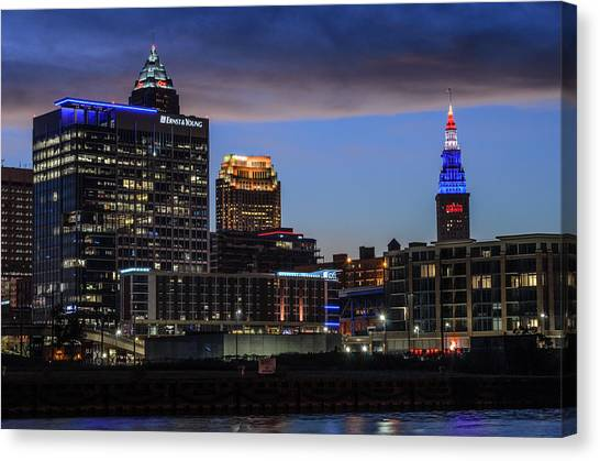 Storm Over Cleveland Canvas Print