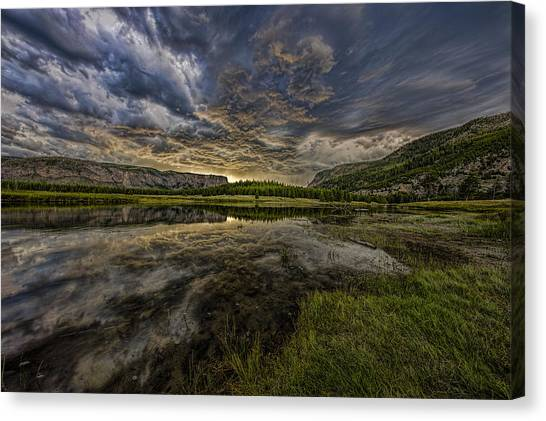 Storm Over Madison River Valley Canvas Print