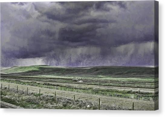 Storm Over Monida Pass  Canvas Print