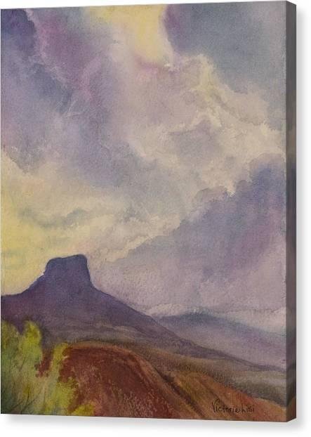 Storm Over Pedernal Canvas Print