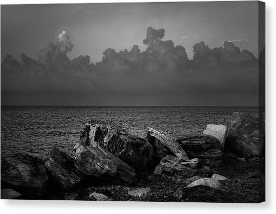 Storm Clouds Canvas Print - Storm Over Roda- Greece by Cambion Art