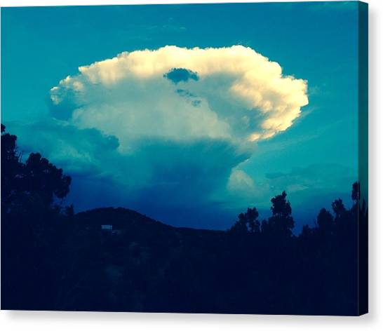 Storm Over Santa Fe Canvas Print
