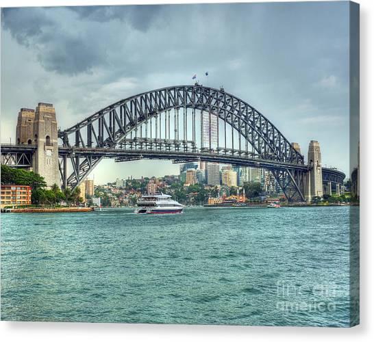 Storm Over Sydney Harbour Bridge Canvas Print by Chris Smith