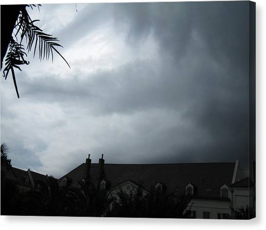 Storm Over The Convent Canvas Print by Tom Hefko