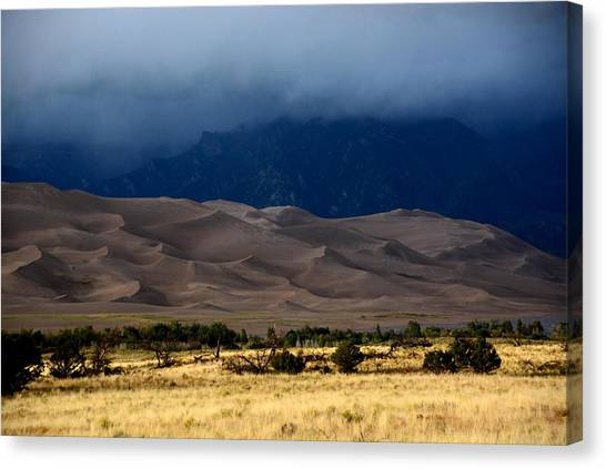 Storm Over The Great Dunes Colorado  Canvas Print