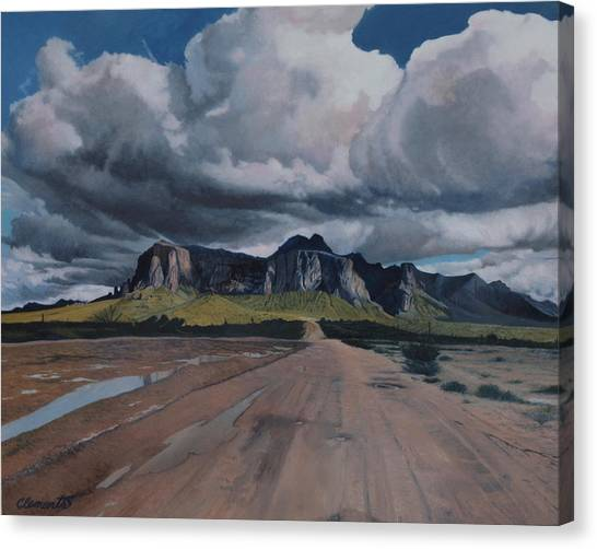 Storm Over The Superstitions Canvas Print