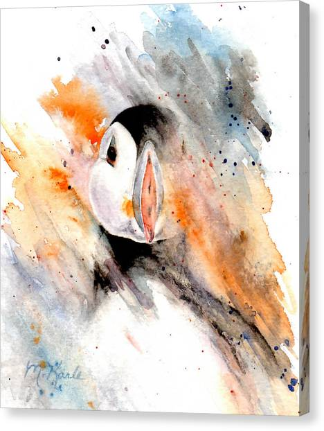 Storm Puffin Canvas Print