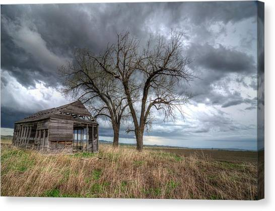 Storm Sky Barn Canvas Print