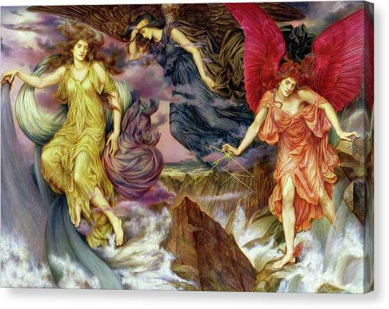 Thunderclouds Canvas Print - Storm Spirits by Evelyn De Morgan