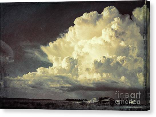 Thunderclouds Canvas Print - Storm Warning by Marvin Spates