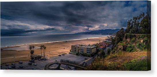 Storm Watch Over Malibu - Panarama  Canvas Print