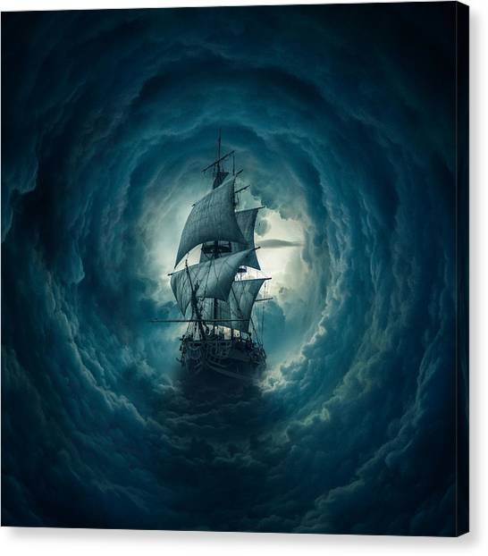 Storm Clouds Canvas Print - Storm by Zoltan Toth