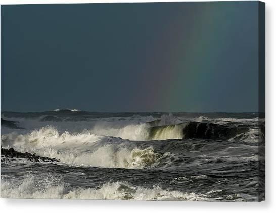 Stormlight Seaside Cove Canvas Print