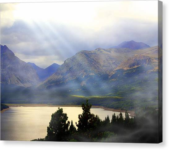 Storms A Coming-lower Two Medicine Lake Canvas Print