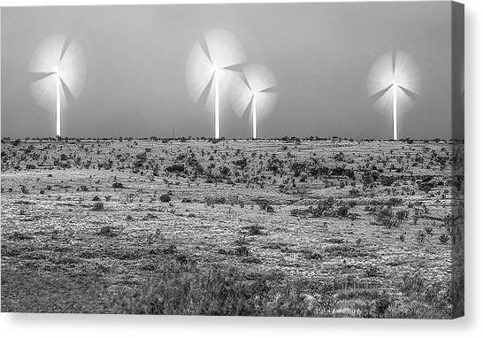 Storms And Halos Bw Canvas Print