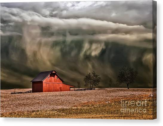 Climate Change Canvas Print - Storm's Coming by Lois Bryan