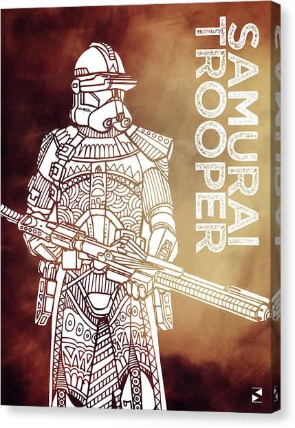 Stormtrooper Canvas Print - Stormtrooper - Star Wars Art - Brown by Studio Grafiikka