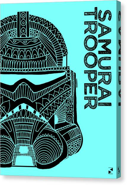 Stormtrooper Canvas Print - Stormtrooper Helmet - Blue - Star Wars Art by Studio Grafiikka