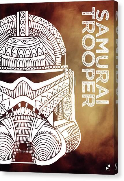 Stormtrooper Canvas Print - Stormtrooper Helmet - Brown - Star Wars Art by Studio Grafiikka