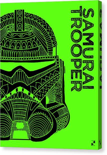 Stormtrooper Canvas Print - Stormtrooper Helmet - Green - Star Wars Art by Studio Grafiikka