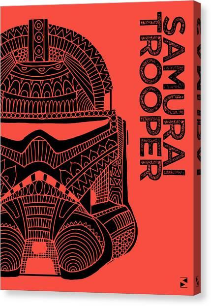 Stormtrooper Canvas Print - Stormtrooper Helmet - Red - Star Wars Art by Studio Grafiikka
