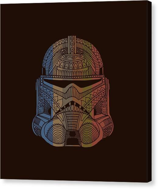 Stormtrooper Canvas Print - Stormtrooper Helmet - Star Wars Art - Colorful by Studio Grafiikka