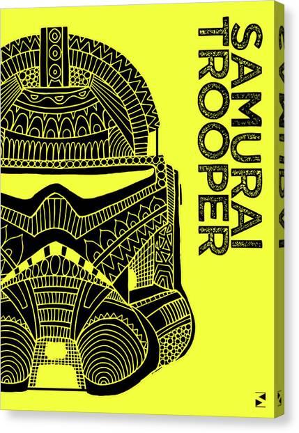 Stormtrooper Canvas Print - Stormtrooper Helmet - Yellow - Star Wars Art by Studio Grafiikka