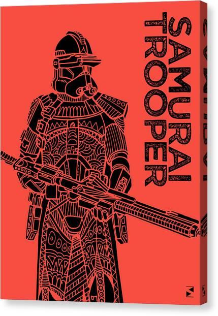 Stormtrooper Canvas Print - Stormtrooper - Red - Star Wars Art by Studio Grafiikka