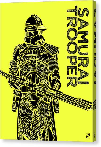 Stormtrooper Canvas Print - Stormtrooper - Yellow - Star Wars Art by Studio Grafiikka