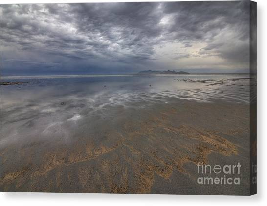 Stormy Clouds Over Antelope Island Canvas Print