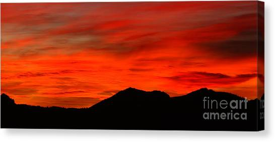 Stormy Colorado Sunrise Canvas Print by Max Allen