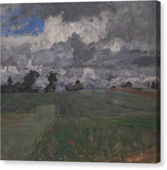 Stormy Day Canvas Print by Isaac Levitan