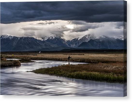 Stormy Day Of Fishing Canvas Print