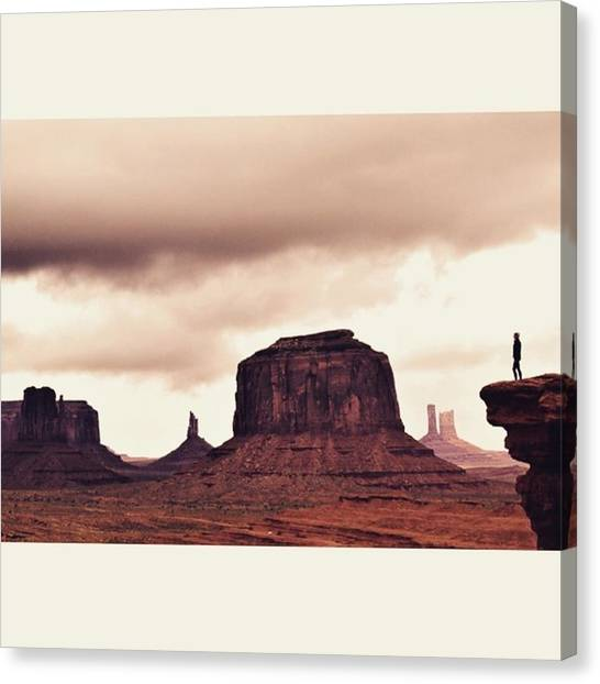 Scotty Canvas Print - Stormy Days At Monument by Scotty Brown