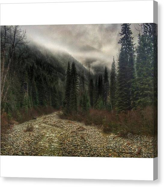 Glacier National Park Canvas Print - #stormy Days In The #rocky #mountains by David Bugden