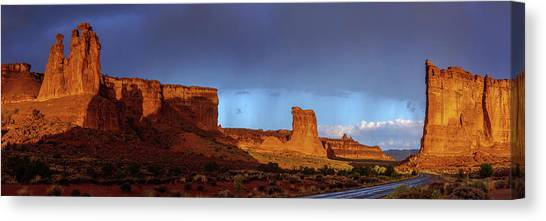 Red Rock Canvas Print - Stormy Desert by Chad Dutson