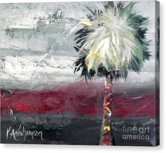 Stormy Horizons Palm Tree Canvas Print