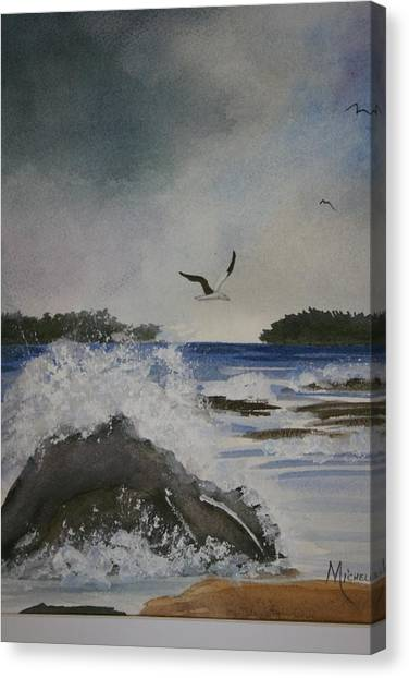 Stormy Inlet Canvas Print