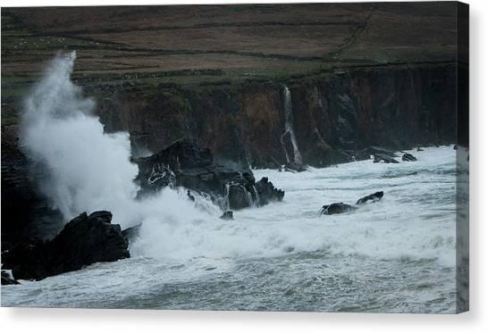 Stormy Irish Seas Canvas Print by Nicole Robinson