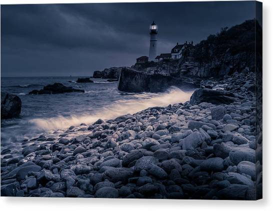 Canvas Print featuring the photograph Stormy Lighthouse 2 by Doug Camara