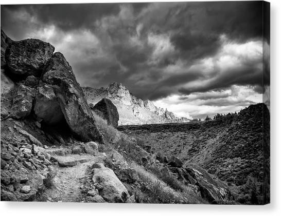 Stormy Misery Ridge  Canvas Print