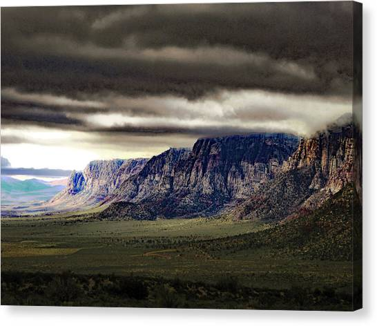 Stormy Morning In Red Rock Canyon Canvas Print
