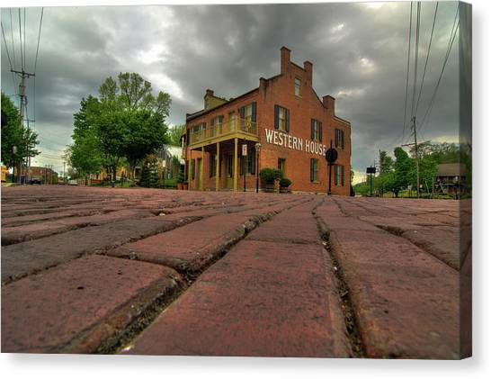 Stormy Morning On Main Street Canvas Print