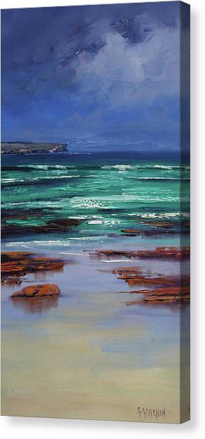 Beautiful Nature Canvas Print - Stormy Ocean by Graham Gercken